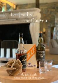 Les jeudis au couvent - Dégustation de vins et whiskies rares