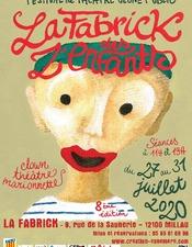 """Festival de théâtre Jeune Public """" la Fabrick des Z' Enfants """""""