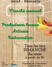 Marché mensuel de Saint-Beauzély