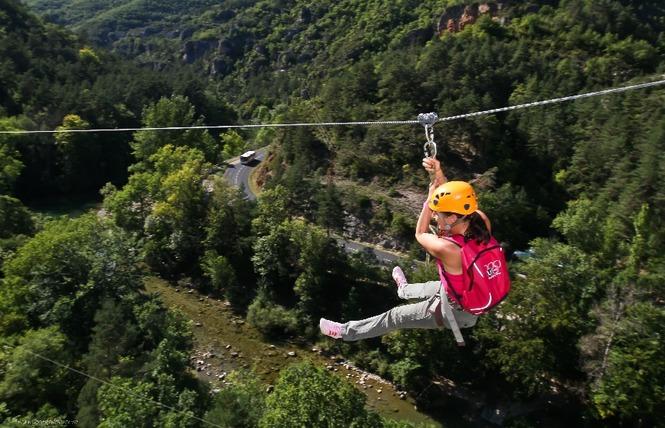 Roc et Canyon - Le Vallon des tyroliennes / Parcours Aventure 2 - Millau